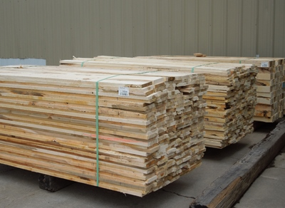 Stacked Rough Cut Lumber