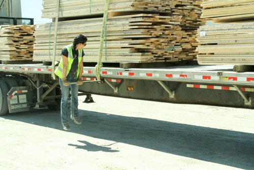 Wood Loaded on Truck