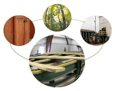 Forestry management to lumber to manufacturing cabinets & custom millwork